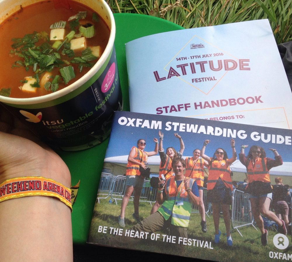 Music festival volunteering with Oxfam