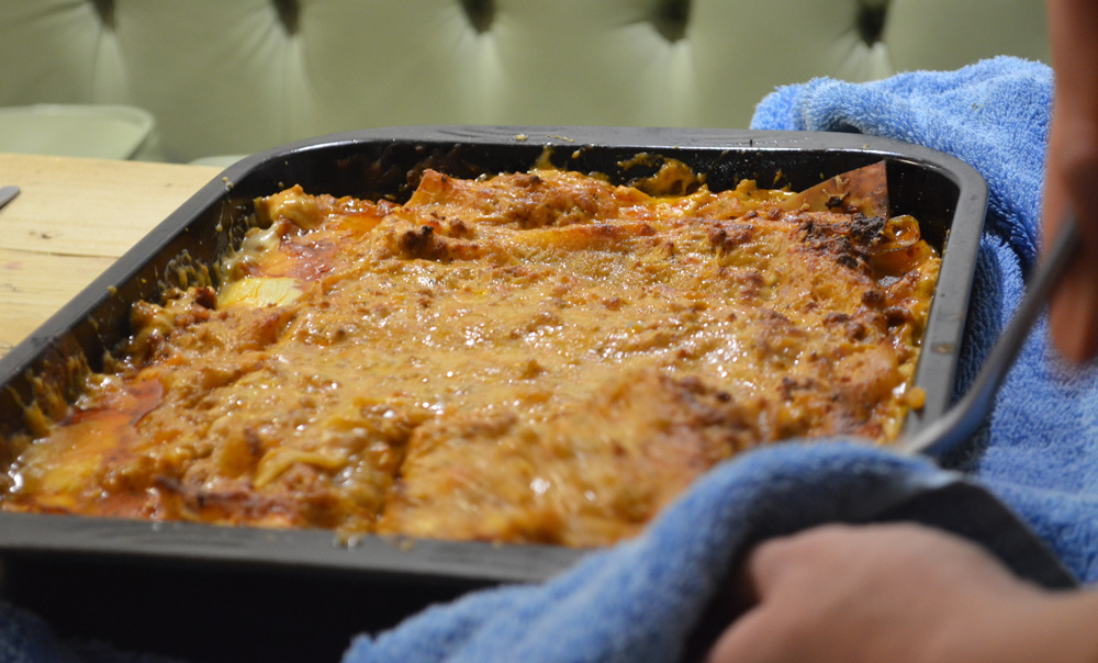 Homemade Lasagne at The Cowshed, Uig