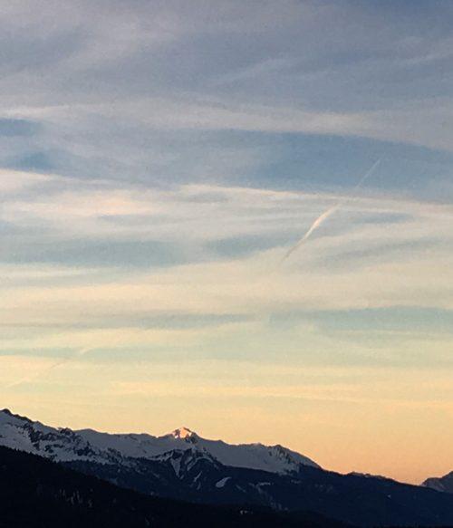 Meribel Sunset