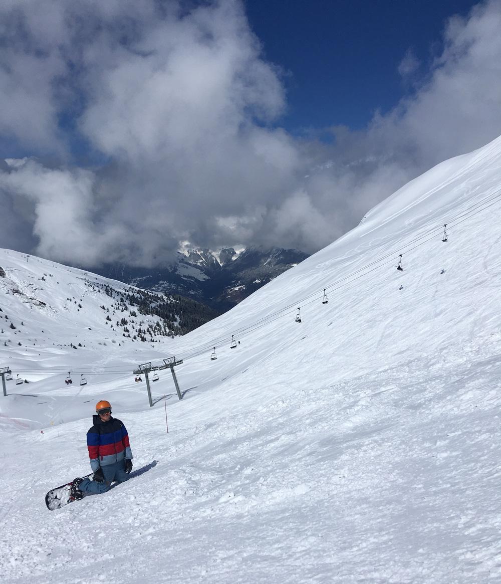Snowboarding Meribel