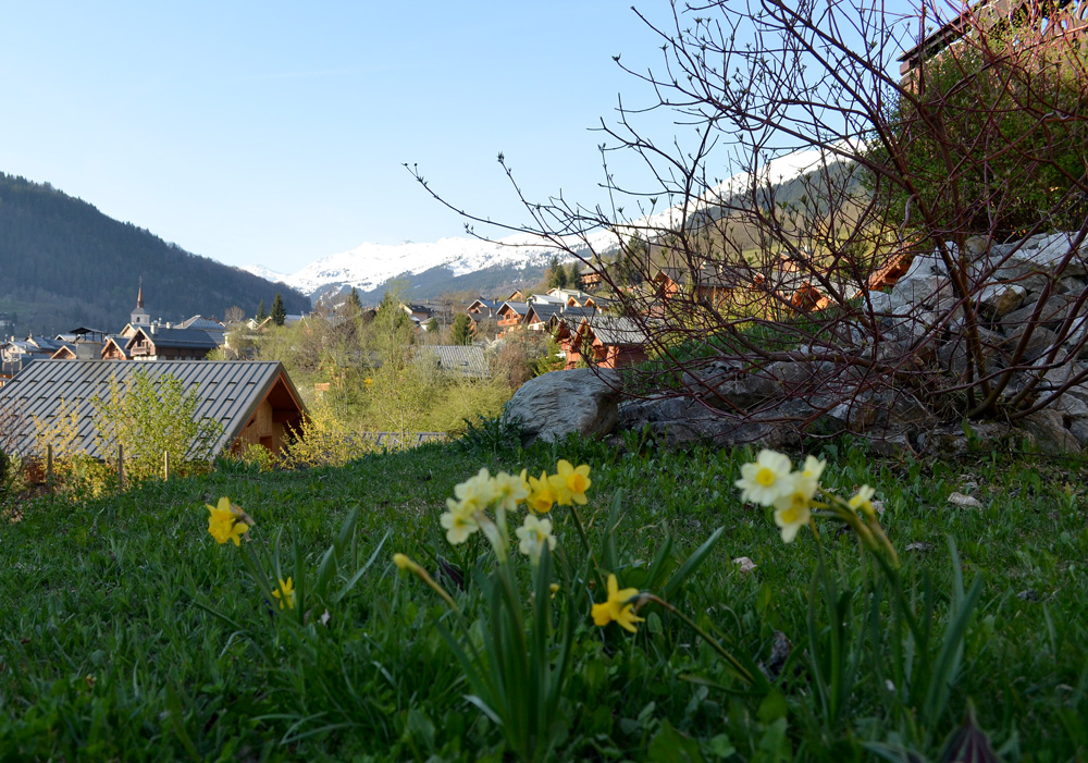 Spring in Les Allues French Alps
