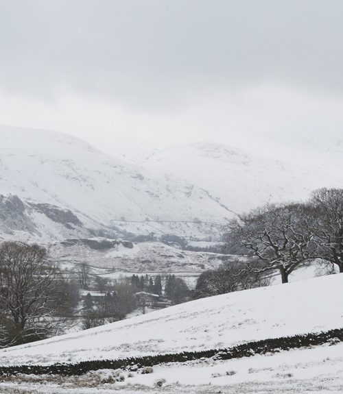 Snowy April day in the Lake District