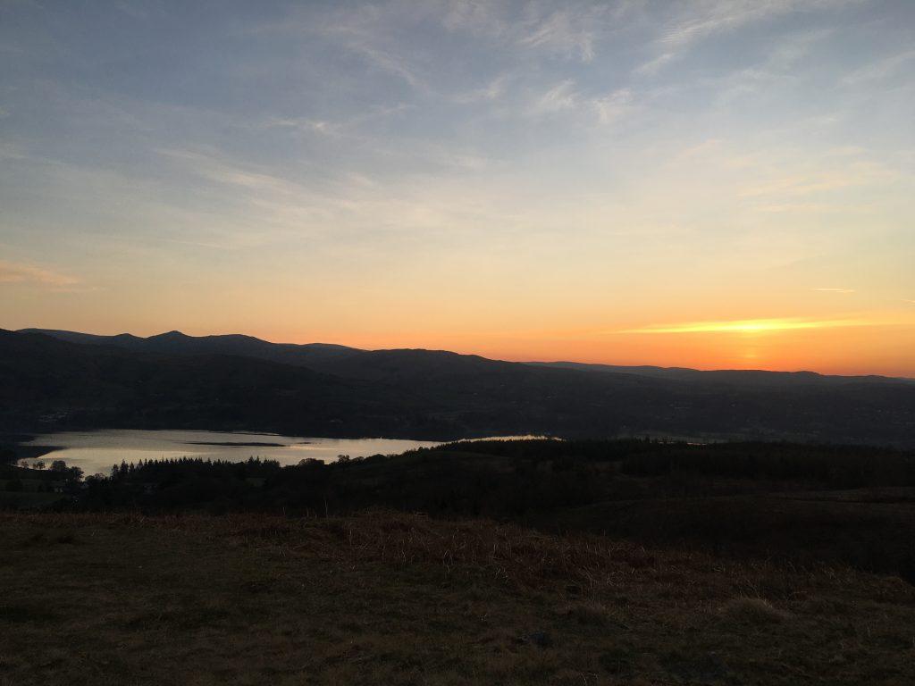 Sunrise on Latterbarrow, Lake District