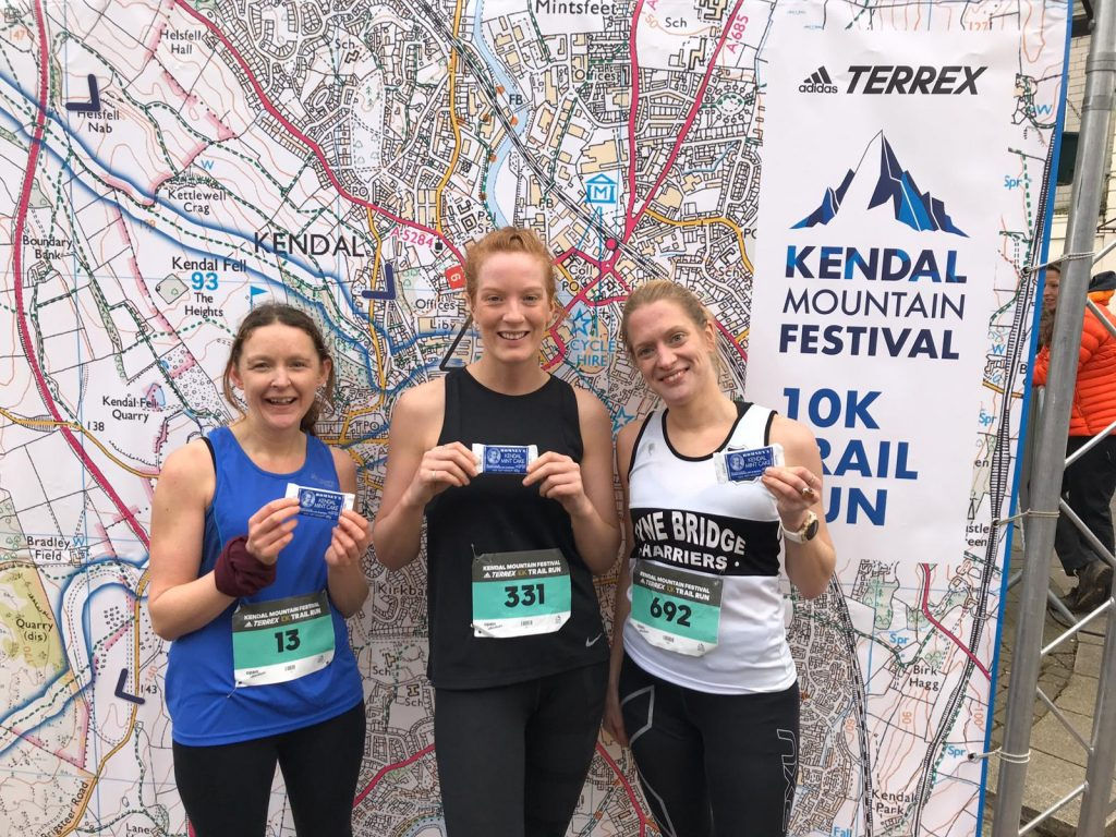 Kendal Mountain Festival 10k podium