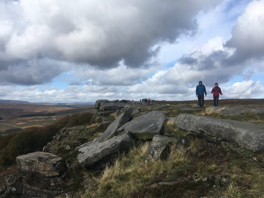 Stanage Edge Running Peak District